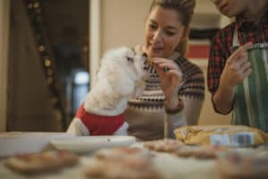 mature-woman-baking-christmas-biscuits-her-gifts for pet lovers-ss